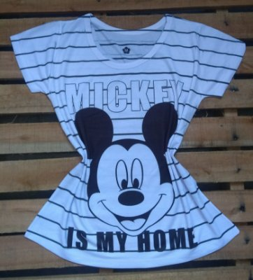 TShirt Feminina No Atacado Mickey is My Home