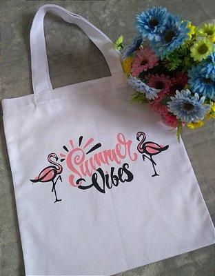 Ecobag Para Revenda Flamingos Summer Vibes