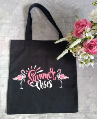 Ecobag No Atacado Flamingos Summer Vibes