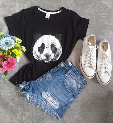 Tee Feminina Para Revenda Panda Rosto