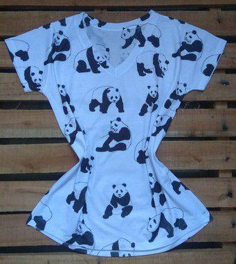 Blusa Feminina No Atacado Pandas