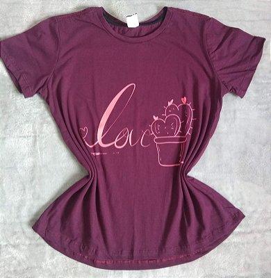 T Shirt Feminina Para Revenda Love