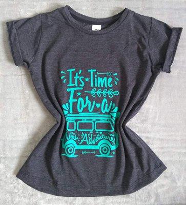 T Shirt Feminina Para Revenda Kombi Adventure
