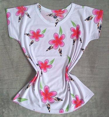 T-Shirt Feminina Para Revenda Flores