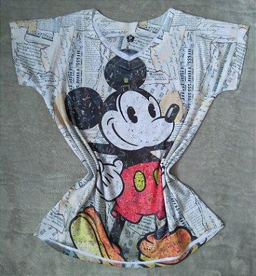T-Shirt Feminina Para Revenda Mickey Grande
