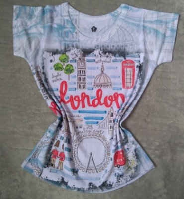 T-Shirt Feminina No Atacado Londres