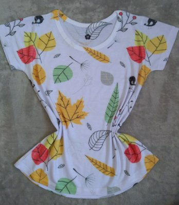 Blusa  Feminina Para Revenda Folhas Coloridas