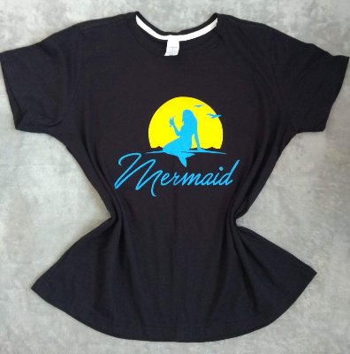 Tee Feminina no Atacado Mermaid
