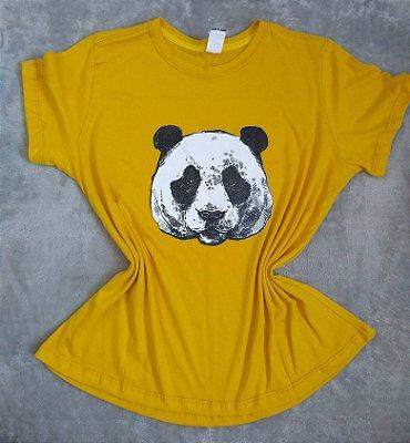 Tee Feminina no Atacado Panda Rosto