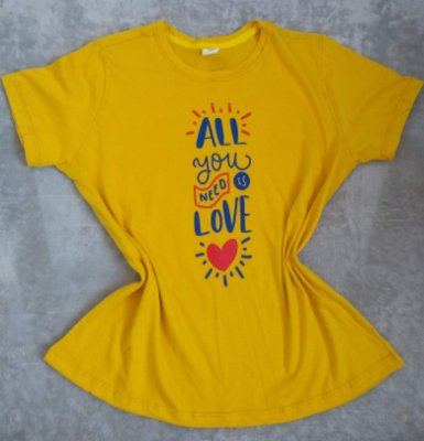 T Shirt Feminina no Atacado All You Need Is Love
