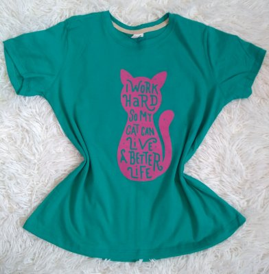 TShirt Feminina No Atacado  Cat Work Hard