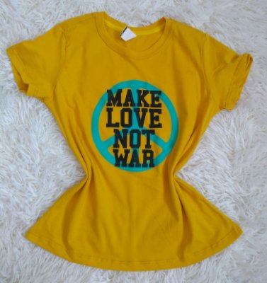 TShirt Feminina no Atacado Make Love Not WaR