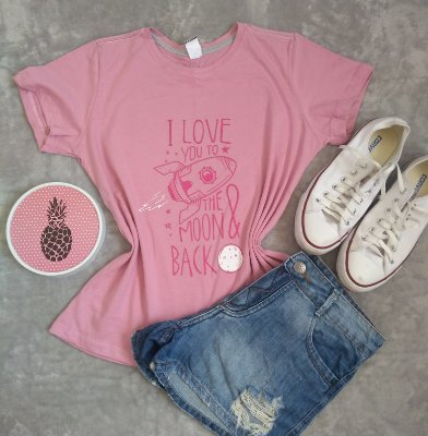 Blusa Feminina No Atacado Love You to The Moon