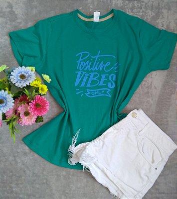 Blusa Feminina Para Revenda Positive Vibes