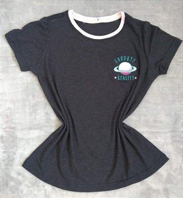 T-Shirt Feminina Para Revenda Planeta Goodbye Reality