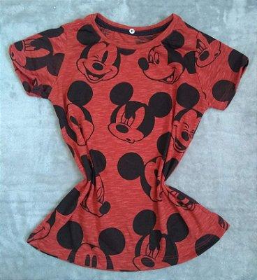 T-Shirt Feminina no Atacado Mickey Rostos