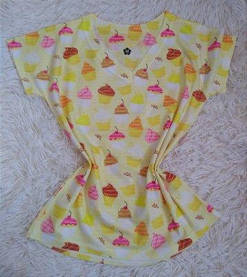 T Shirt Feminina Para Revenda Cupcakes