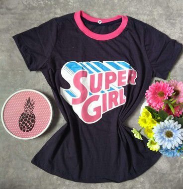 T Shirt Feminina no Atacado Super Girl