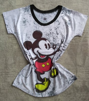 Blusinha Feminina no Atacado Mickey Grande