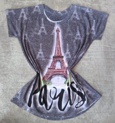 Blusinha Feminina No Atacado Paris Torre Grande