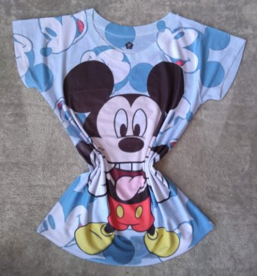 T-Shirt Feminina Para Revenda Mickey Grande Língua