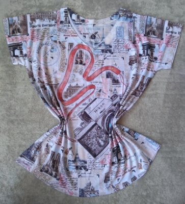 T-Shirt Feminina No Atacado Câmera Grande