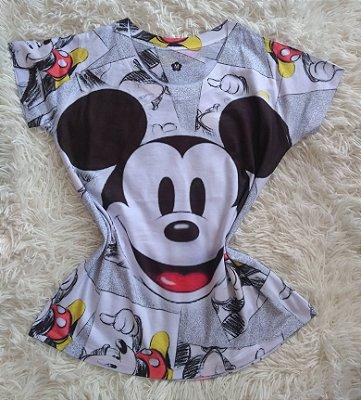 Blusa Feminina Para Revenda Mickey Rosto Grande