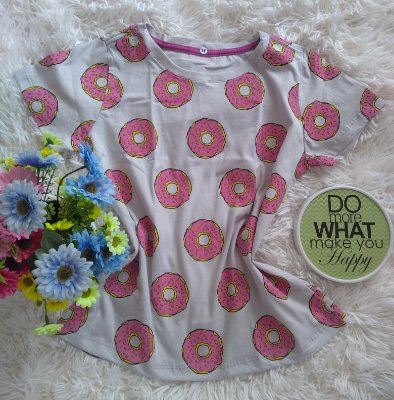 T-Shirt Feminina no Atacado Donuts