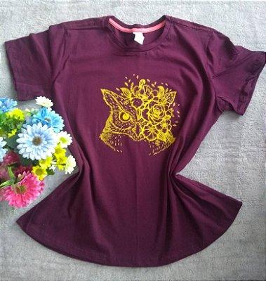 Blusa feminina para Revenda Coruja flores