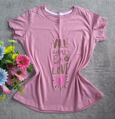 Tshirt feminina para revenda All you need is love