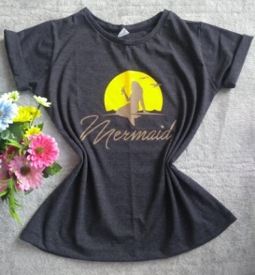 T-Shirt Feminina No Atacado Mermaid