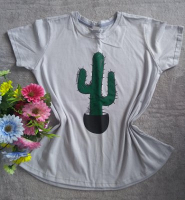 T-Shirt feminina para Revenda Cacto
