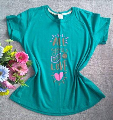 T Shirt Feminina No Atacado All you need is love