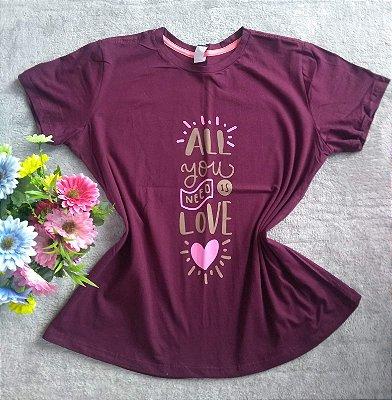 TShirt Feminina No Atacado all you need is love