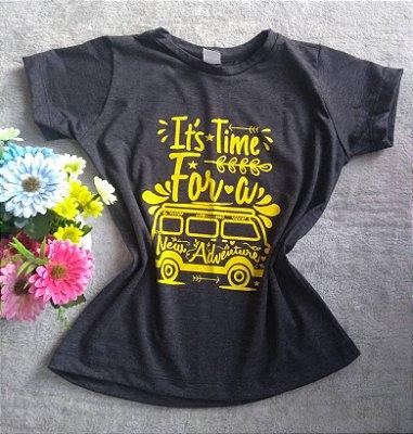 T-Shirt Feminina No Atacado Kombi Adventure