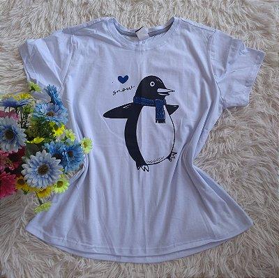 Tee Feminina Para Revenda Pinguim