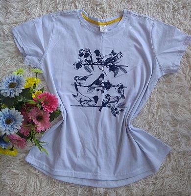 T-Shirt Feminina no Atacado Passarinhos