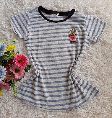 T-Shirt Feminina Para Revenda Batata Frita