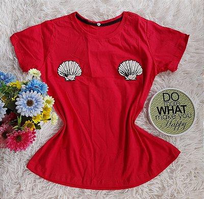 T Shirt Feminina Para Revenda Conchas