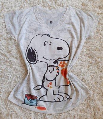 T-shirt Feminina no Atacado Snoopy
