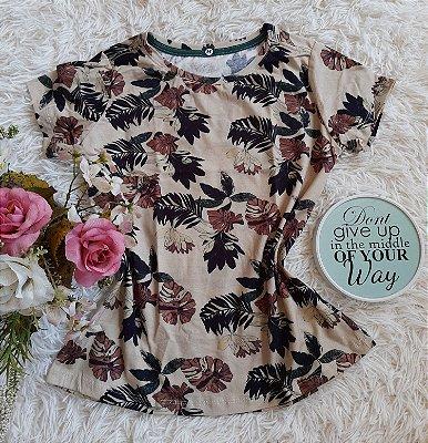 Tshirt  Feminina no Atacado Floral