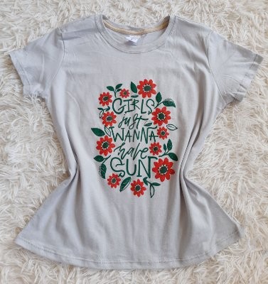 Tshirt Feminina no Atacado Girls Just Wanna Have a Sun