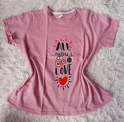 Blusa Feminina no Atacado All you need is love