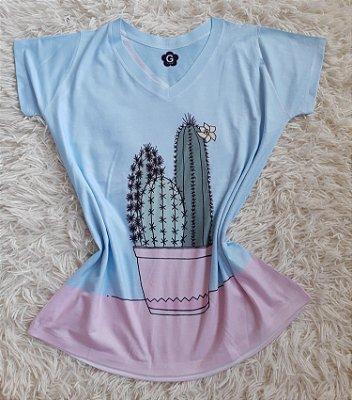 T Shirt Feminina Para Revenda Cactos Grandes