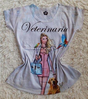 T-Shirt Profissão No Atacado Veterinária