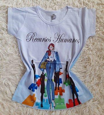 T-Shirt Profissão Recursos Humanos