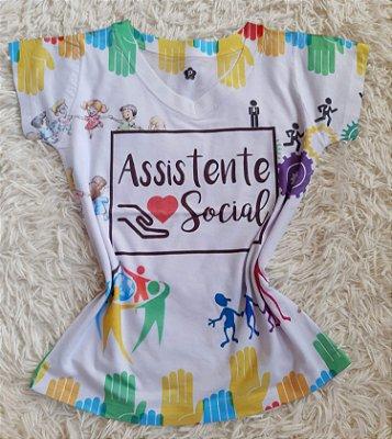 T-Shirt Profissão No Atacado Assistente Social
