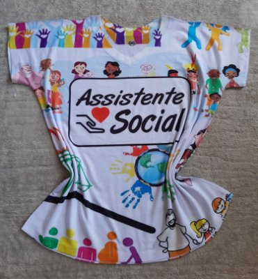 Tee Feminina no Atacado Assistente Social