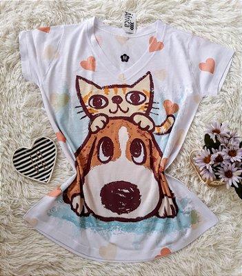 T-Shirt No Atacado Cat Dog