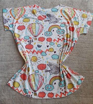 Blusa Feminina Para Revenda Elementos Coloridos